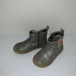 Cat and Jack silver gray boots